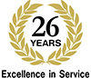 25 years excellence in service